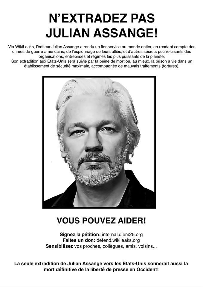 Stan Maillaud & Julian Assange ! Manif. le 7 mars !